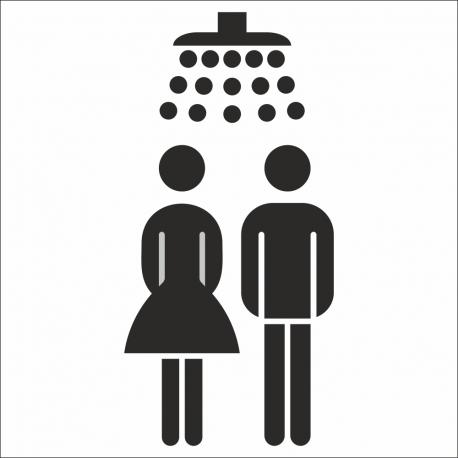 Gezamenlijke douche stickers (met achtergrond)