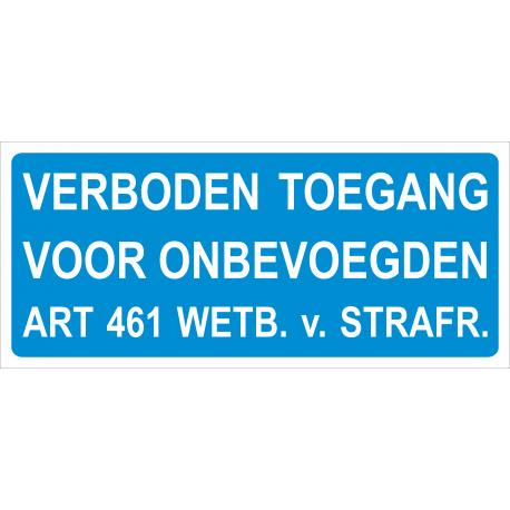 Verboden toegang (Art. 461) stickers