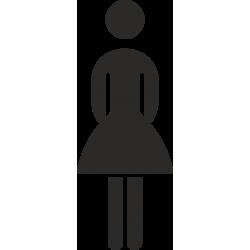 Dames toilet stickers (zonder achtergrond)