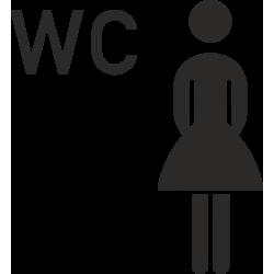 Dames wc stickers (zonder achtergrond)
