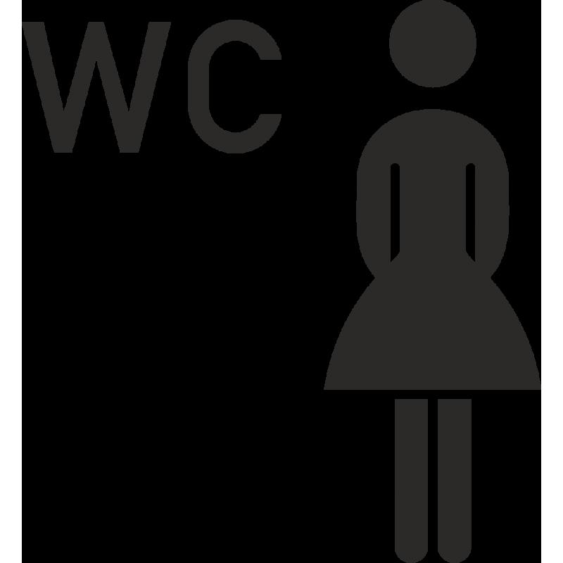vrouwen teken wc