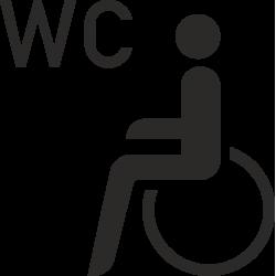 Invalide wc stickers (zonder achtergrond)