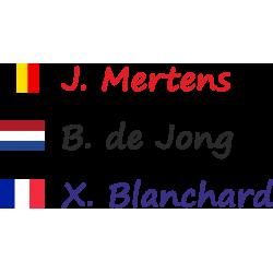 Fietsstickers met rechte vlag (Segoe)