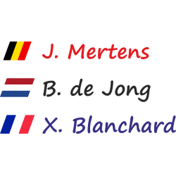 Fietsstickers met schuine vlag (Segoe)