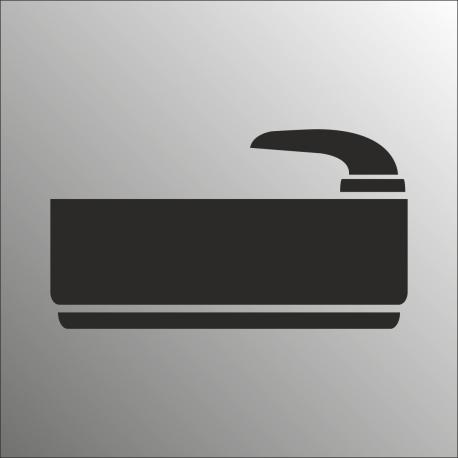 Badruimte bordjes (RVS Look)