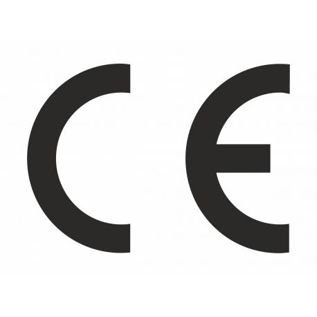 CE stickers rechthoekig wit