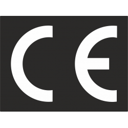 CE stickers rechthoekig zwart