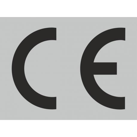 CE stickers rechthoekig grijs