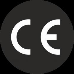 CE stickers rond zwart