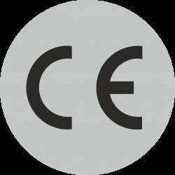 CE stickers rond grijs