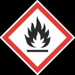 GHS-02 Ontvlambare stof stickers