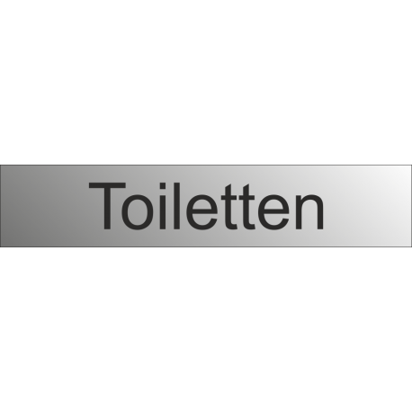 Toiletten bordjes (RVS Look)