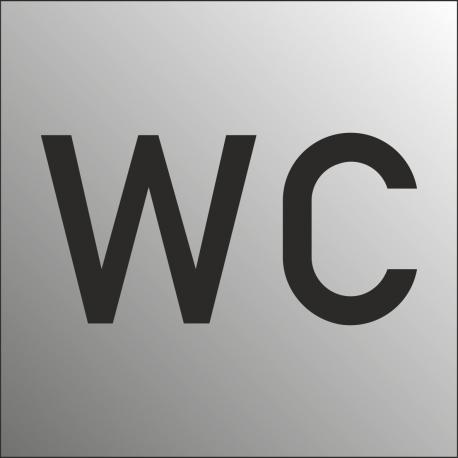 WC bordjes (RVS Look)