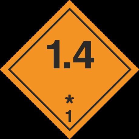 ADR 1.4 Ontplofbaar borden