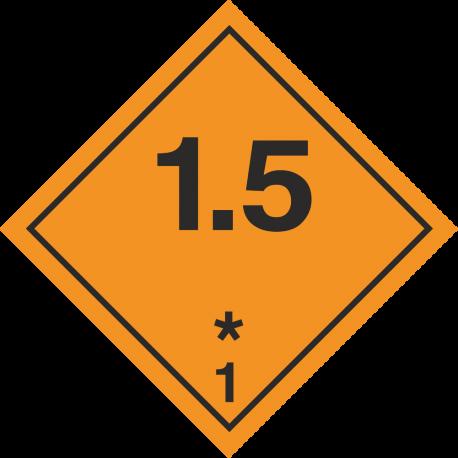 ADR 1.5 Ontplofbaar borden