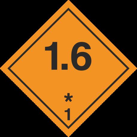 ADR 1.6 Ontplofbaar borden