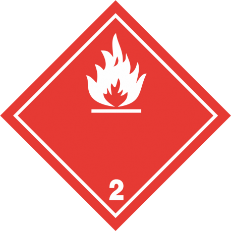 "ADR 2 ""Brandbare gassen"" borden (wit)"