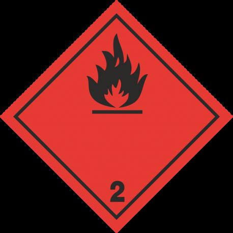 "ADR 2 ""Brandbare gassen"" borden (zwart)"