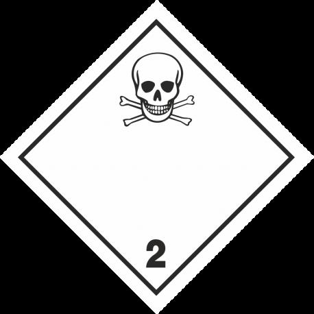 """ADR 2 """"Giftig gas"""" borden"""