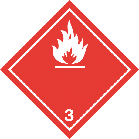 "ADR 3 ""Brandbare vloeistoffen"" borden (wit)"