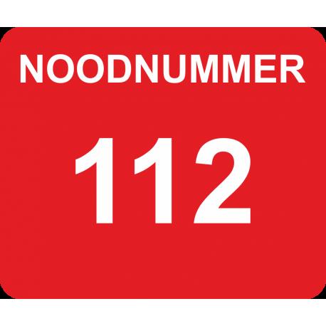 Noodnummer stickers met eigen telefoonnummer