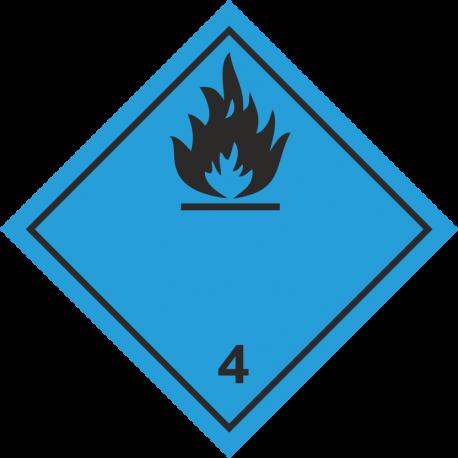 """ADR 4 """"Gas brandbaar bij contact met water"""" borden (zwart)"""