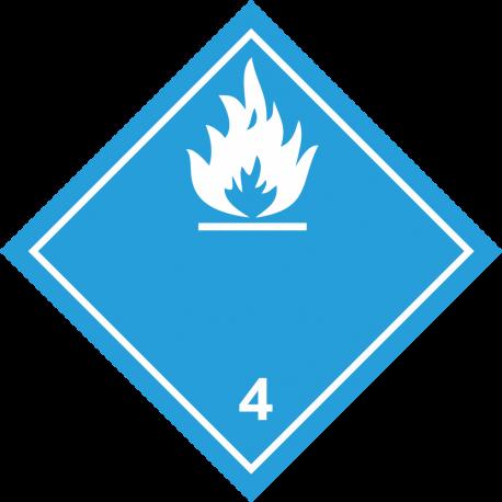 """ADR 4 """"Gas brandbaar bij contact met water"""" borden (wit)"""