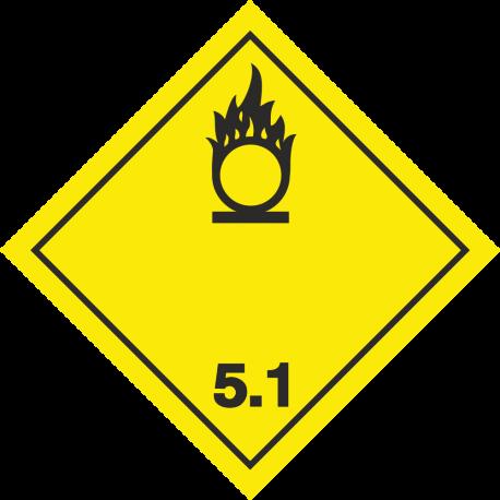 ADR 5 'Oxyderende stof' borden