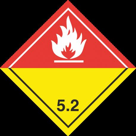 """ADR 5 """"Organische peroxiden"""" borden (wit)"""