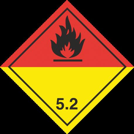 """ADR 5 """"Organische peroxiden"""" borden (zwart)"""