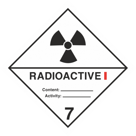 "ADR 7 ""Radioactive I"" borden"