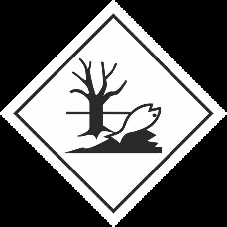 """ADR 9 """"Gevaarlijke stoffen voor het milieu"""" borden"""
