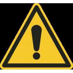 Algemeen gevaar vloerstickers