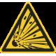 Explosieve stoffen vloerstickers