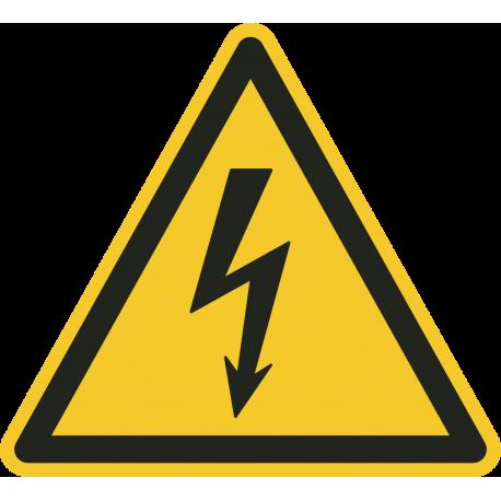 Gevaarlijke elektrische spanning vloerstickers