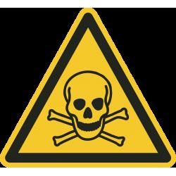 Giftige stoffen vloerstickers