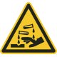 Bijtende stoffen vloerstickers