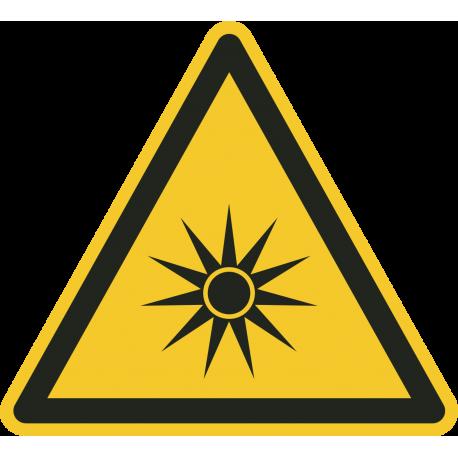 Optische straling vloerstickers