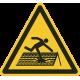 Instortingsgevaar dak vloerstickers