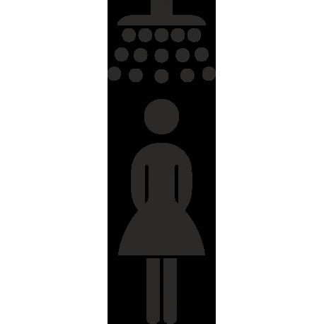 Dames douche stickers (zonder achtergrond)