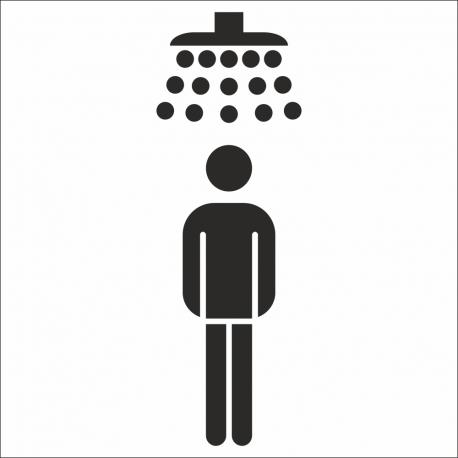 Heren douche stickers (met achtergrond)