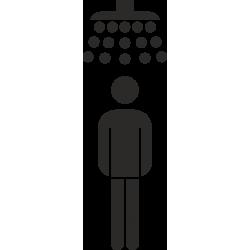 Heren douche stickers (zonder achtergrond)