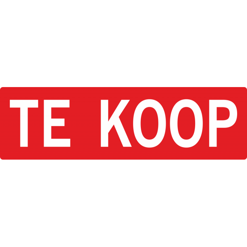 Fototassen Te Koop : Makelaar quot te koop stickers voor binnen en buiten