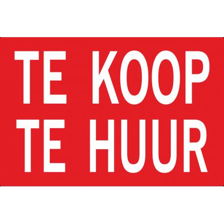Te koop / Te huur stickers (dubbele hoogte)