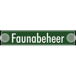 'Faunabeheer' bordjes