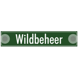 Wildbeheer bordjes