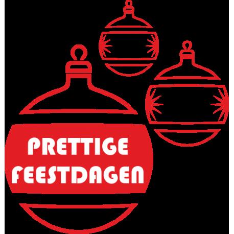 Kerst decoratiestickers raam (rode kerstballen)