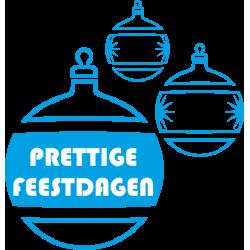 Kerst decoratiestickers raam (blauwe kerstballen)