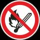 Vuur, open vlam en roken verboden stickers