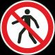 Verboden voor voetgangers stickers